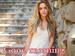 Beautiful Girls Good Morning Images Wallpaper HD Download