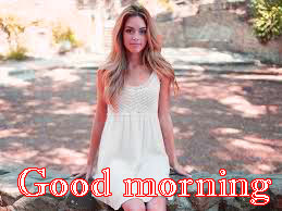 Beautiful Girls Good Morning Images Photo Download