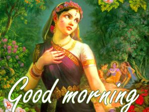 Radha Krishna Good Morning Images Wallpaper