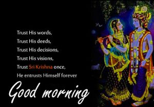Radha Krishna Good Morning Images Wallpaper Pics